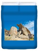 Rock Uplifts In Andreas Canyon In Indian Canyons-ca Duvet Cover