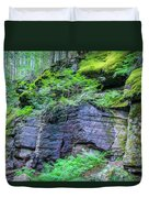 Rock Wall Trail Of The Cedars Glacier National Park Painted Duvet Cover