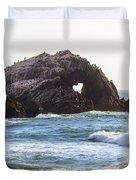 Heart Rock Near San Francisco Ca Cliff House Duvet Cover
