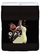 Rockabilly Electric Guitar Player  Duvet Cover by Tommytechno Sweden