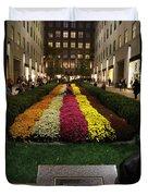 Rockefeller Center In Autumn Duvet Cover