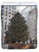 Rockefeller Christmas Tree Duvet Cover