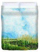 Rockefeller Coastal Marsh Louisiana  Duvet Cover