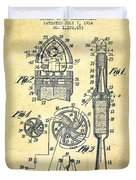 Rocket Apparatus Patent From 1914-vintage Duvet Cover