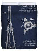 Rocket Patent Drawing From 1883 Duvet Cover