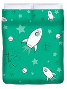 Rocket Science Green Duvet Cover