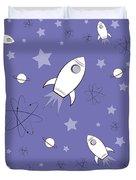 Rocket Science Purple Duvet Cover