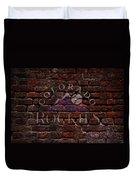 Rockies Baseball Graffiti On Brick  Duvet Cover by Movie Poster Prints