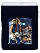 Rockin Guitarist Duvet Cover