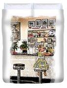 Rockin Robin's Soda Shop Duvet Cover