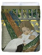 Rocking Baby Doll To Sleep Duvet Cover