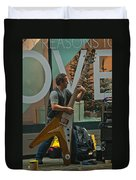 Rocking Times Square Duvet Cover