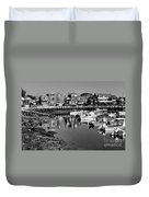 Rockport Harbor - Bw Duvet Cover