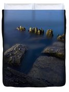 Rocks And Posts Duvet Cover