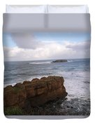 Rocks And Waves  Duvet Cover