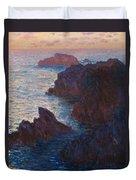 Rocks At Belle Ile Duvet Cover