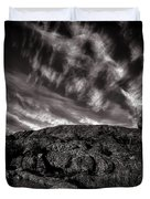 Rocks Clouds Water Duvet Cover