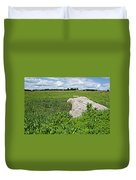 Rocks In A Tall Grass Prairie In Pipestone National Monument-minnesota Duvet Cover