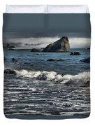 Rocks In The Surf Duvet Cover