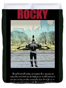 Rocky - All Sunshine And Rainbows Duvet Cover by Bill Cannon