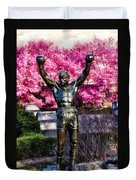 Rocky Among The Cherry Blossoms Duvet Cover