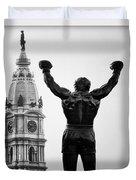 Rocky And Philadelphia Duvet Cover