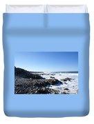 Rocky Beach Duvet Cover by Barbara Snyder