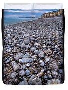 Rocky Beach Normandy France Duvet Cover
