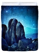 Rocky Cliff In Starlight Duvet Cover