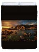 Rocky Coastline At Sunset, Point Duvet Cover