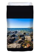 Rocky Cove At Lake Superior North Shore Duvet Cover