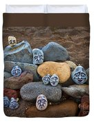 Rocky Faces In The Sand Duvet Cover