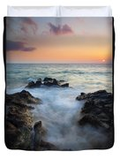 Rocky Inlet Sunset Duvet Cover by Mike  Dawson