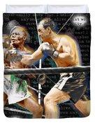 Rocky Marciano V Jersey Joe Walcott Quotes Duvet Cover