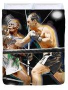 Rocky Marciano V Jersey Joe Walcott Duvet Cover