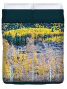 Rocky Mountain Autumn Contrast Duvet Cover by James BO  Insogna