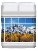 Rocky Mountain Autumn High White Picture Window Duvet Cover