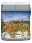 Rocky Mountain Autumn Storm Duvet Cover by James BO  Insogna