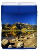 Rocky Mountain Beach Duvet Cover