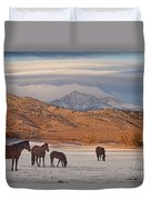 Rocky Mountain Country Morning Duvet Cover