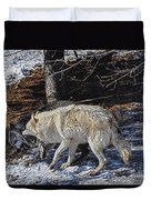 Rocky Mountain Encounter Duvet Cover by Skye Ryan-Evans