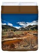 Rocky Mountain Meadows Duvet Cover