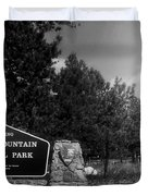 Rocky Mountain National Park Signage Duvet Cover