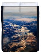 Rocky Mountain Peaks From Above Duvet Cover