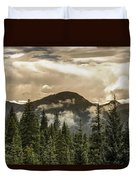 Rocky Mountain Red Duvet Cover