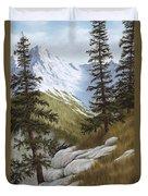 Rocky Mountain Solitude Duvet Cover