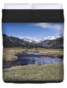 Rocky Mountain Stream Wide Angle Duvet Cover