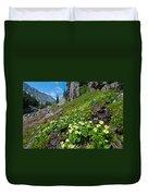 Rocky Mountain Summer Landscape Duvet Cover