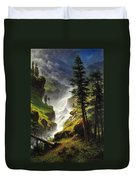 Rocky Mountain Waterfall Duvet Cover
