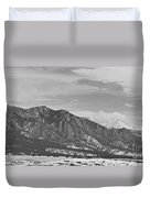 Rocky Mountains Flatirons And Longs Peak Panorama  2 Duvet Cover
